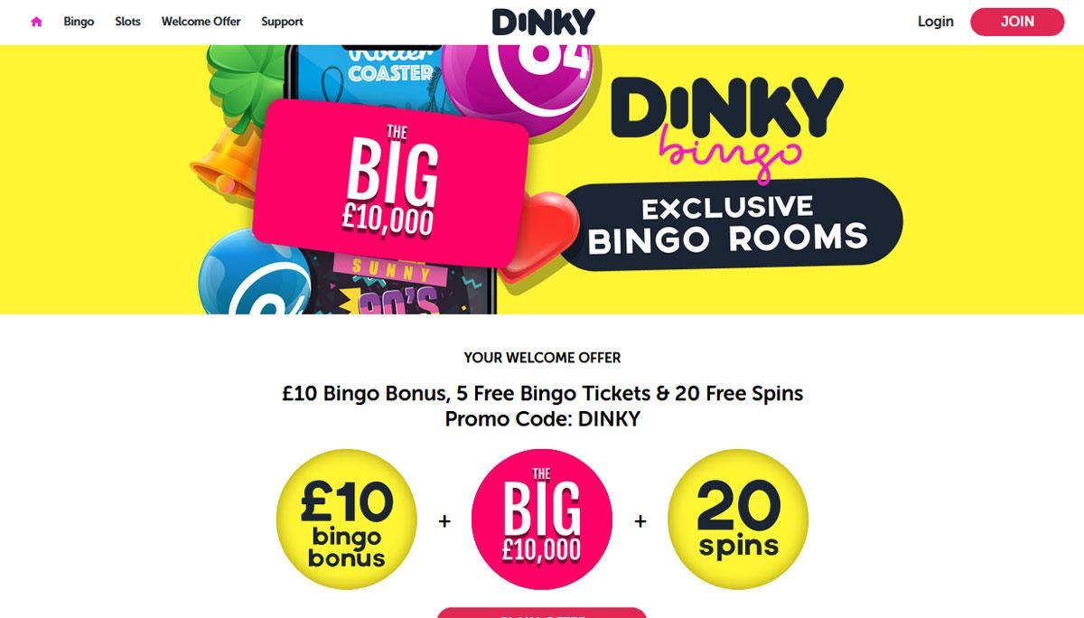 Dinky Bingo is new Bingo playground Online!