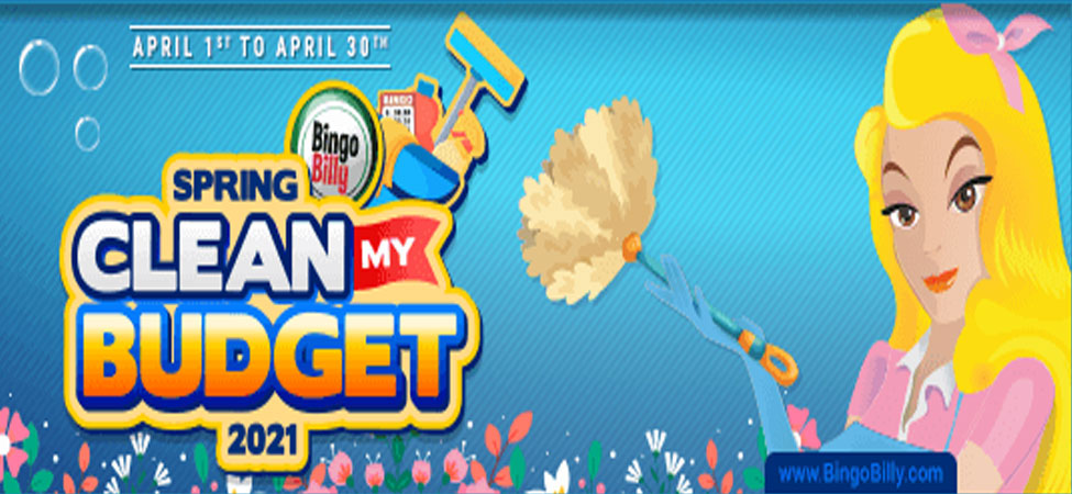 April 2021 Spring Clean Contest at Bingo Billy!
